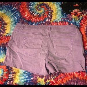 torrid Shorts - 💜🍇Torrid shorts light purple with raw hem